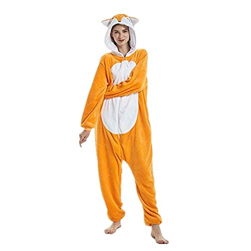 DUKUNKUN Paare Pyjamas Adult Animal Nachtwäsche Kostüm Halloween Party Wear Weihnachten Cartoon Party,XL (Adult Halloween Paare Kostüm)