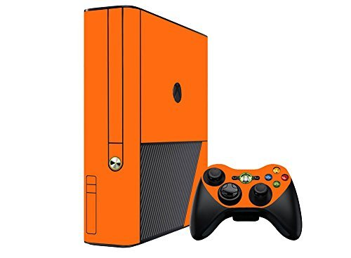 microsoft-xbox-360-skin-360e-3rd-gen-new-citrus-orange-system-skins-faceplate-decal-mod-by-system-sk