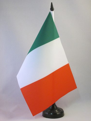 AZ FLAG Bandiera da Tavolo Italia 21x14cm - Piccola BANDIERINA Italiana 14 x 21 cm