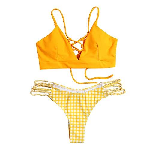 Riou Bikini Conjuntos de Bikinis para Mujer Push Up Mujeres Traje de BañO Estampado Bohemio Dividido...