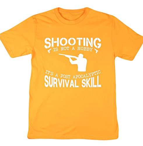 ing ist Nicht ein Hobby It 'S A Post Apokalyptischen Survival Skill Unisex Short Sleeve T-Shirt Gr. XX-Large, Gold (Halloween-text-post)