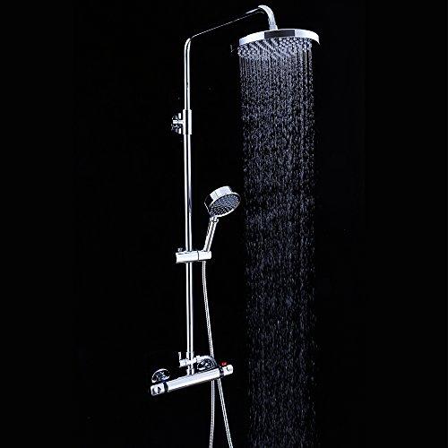 Badezimmer Dusche Set Bad Sprinkler Wasserhahn Hot Cold Wasser Automatische Temperatur einstellen Wand montiert Messing Thermostat Hahn Duschmischer Kit für Massage Bubble Spa