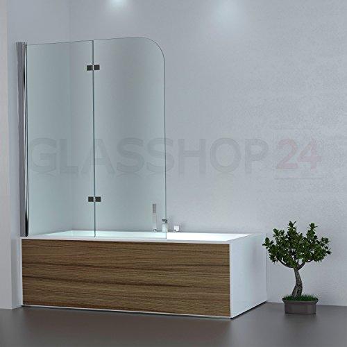 Badewannen Duschabtrennung   1180x1400mm   Klarglas   DW3