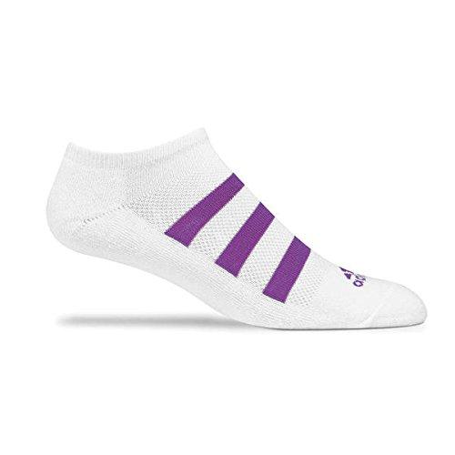 2014 Ladies Adidas Tour Performance No Show Womens Golf Socks White/Purple