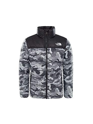 THE NORTH FACE Nuptse Down Jacket Boys TNF Black Textured Camo Print Kindergröße M | 140-150 2018 Funktionsjacke
