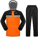 Photo de TFULP Raincoat Rain Suit Rainproof Adjustable All in One for Men Heavy Duty Workwear Waterproof Jacket with Pants 2 Pieces Grid Lining par TFULP