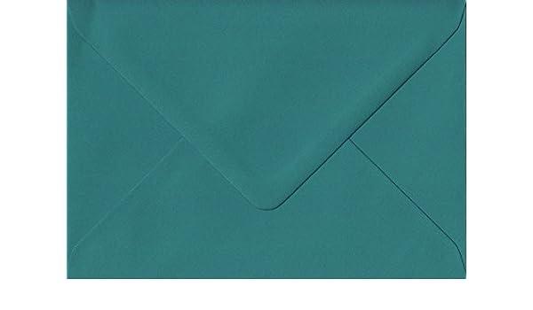 Teal Green 133mm x 184mm Gummed 135gsm Luxury 5x7 Inch Coloured Green Envelopes