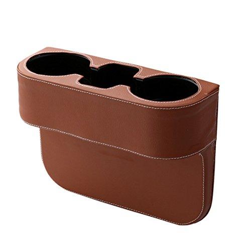 alter Aufbewahrungsbox, Auto Organizer Multifunktions Auto Sitzschale Telefon Getränkehalter (Braun) ()