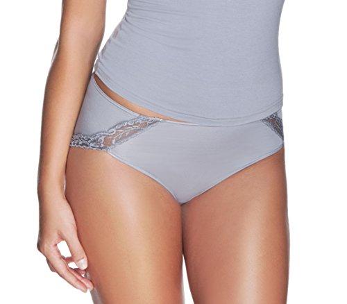 e.FEMME® Damen Slip Lilka 557 mit Spitzeneinsatz aus seidenweichem Lenzing Micromodal, in verschiedenen Farben und Größen Schwarz