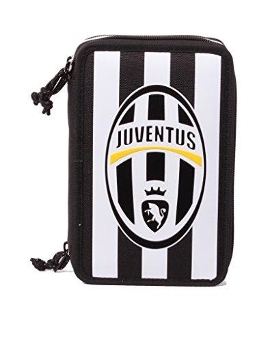 Astuccio Juventus - 3 Scomparti, Poliestere, Multicolore