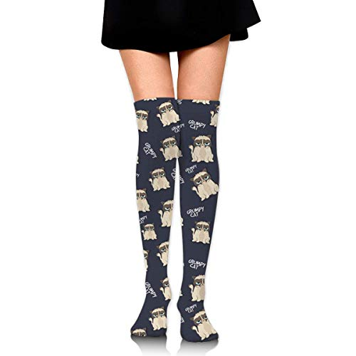 Jxrodekz Knee High Socken Grumpy Looking Cat Long Socken Boot Stocking Compression Socken for Women
