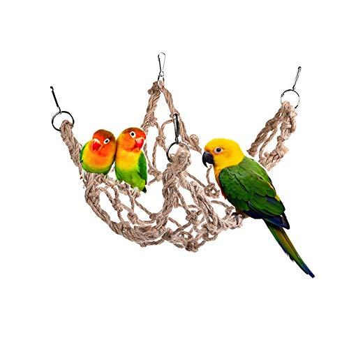 Bello Luna Papagei Klettern Hanfseil Netz mit Haken Vogel Hängematten Netz für Käfig