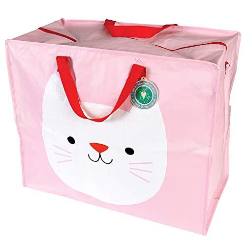 Allzweck-taschen (LS-LebenStil XXL Jumbo Bag Katze Cat Rosa 55x48x28cm Recycled Allzweck-Tasche)