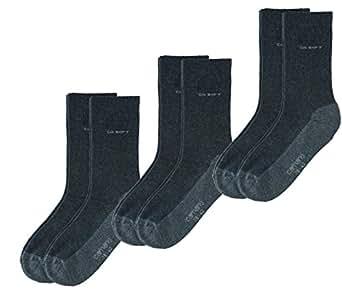 6 Paar Camano Socken Ca-Soft Walk, grau/anthrazit, Gr. 35-38