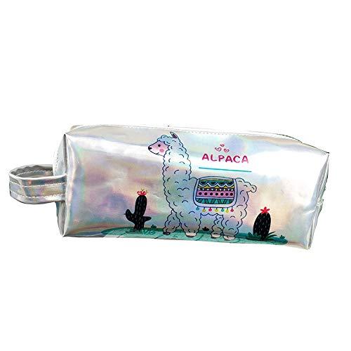 Dosige' PU Leder-Multifunktions-Alpaka-Stift Tasche Reißverschluss Schreibwaren Tasche tragbare Karikaturkunst Zeichnung Aufbewahrungstasche -