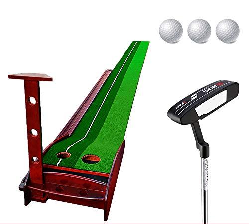 YUIT-G Golf Plastic Exerciser, Solid Wood Exerciser Indoor Golf Golf Putting Golf È Adatto per Il Golf,3M+Club+3balls di YUIT-G