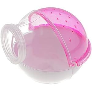 Gazechimp Hamster Maus Kleine Haustier Badezimmer Käfig Box Badehaus Badewanne Sand Sauna WC - Pink