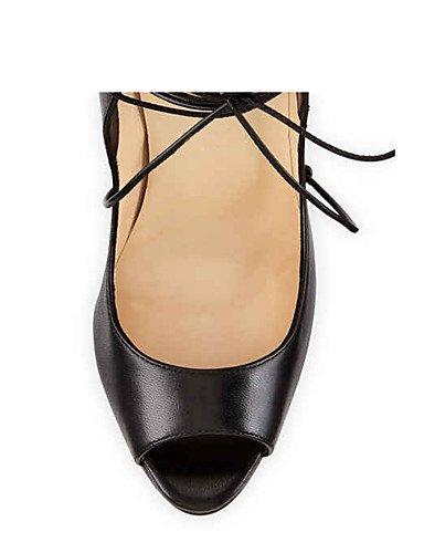 WSS 2016 Chaussures Femme-Mariage / Bureau & Travail / Soirée & Evénement-Noir-Talon Aiguille-Talons-Talons-Similicuir black-us10.5 / eu42 / uk8.5 / cn43