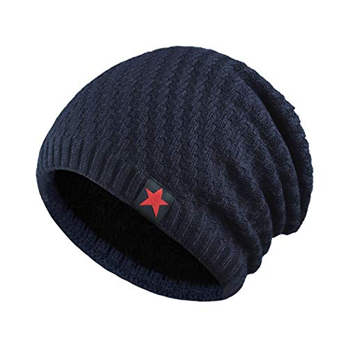 DAMENGXIANG Unisex Herbst Winter Outdoor Knit Warm Cap Männer Freizeit Mode Hip Hop Verdi