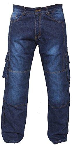 Bleu Motorradhose Rüstungen Jeans Hose Verstärkte von Aramid Schutzauskleidung
