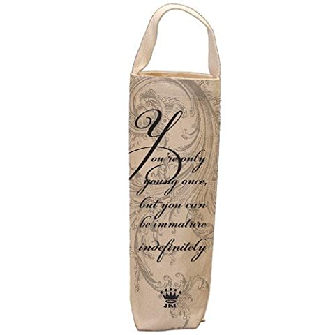Santa Barbara Design Studio WBAG-2510L JKC Cotton Canvas Wine Bottle Bag, You