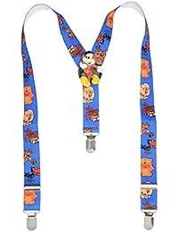 Sorella'z Boys Elastic Multicolor Suspender (will send suspender with any available cartoon patch)