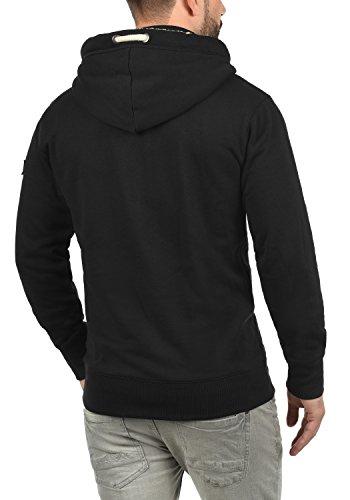 !Solid Trip-Zip Pile Herren Sweatjacke Kapuzen-Jacke Zip-Hoodie mit Teddy-Futter aus hochwertiger Baumwollmischung, Größe:S, Farbe:Black Pil (P9000) - 3