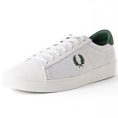 Fred Perry Spencer Mens Leather & Mesh Trainers White - 46 EU