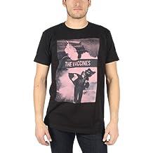 Vaccines - Hombres Tiesto Slim Fit Camiseta de Negro, Medium, Black