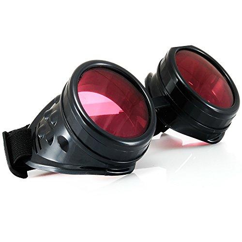 Welding Cyber Goggles Goth Schutzbrille Cosplay Antique Sonnenbrille Victorian Black MFAZ Morefaz Ltd Cyber Goth