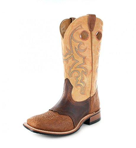 Boulet 0231 EEE Butterscotch/Herren Westernreitstiefel Braun/Brauner Reitstiefel/Westernstiefel/ Western Riding Boots, Groesse:40 (7 US) (Boulet Männer Western Boots)