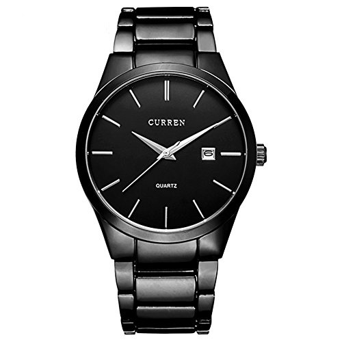 Herren Uhren Minimalistische Quarz Herren Quarzuhr Wasserdicht Business Uhren Armbanduhr Schwarz