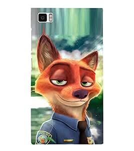EPICCASE Fox police Mobile Back Case Cover For Xiaomi Mi3 (Designer Case)