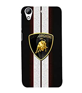 Takkloo bull symbol stripes cover, angry bullred and blackabstract design) Printed Designer Back Case Cover for HTC Desire 728 Dual Sim :: HTC Desire 728G Dual Sim
