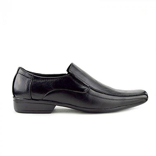 Kick Footwear Mens Lace Up Leather Smart Shoes Black