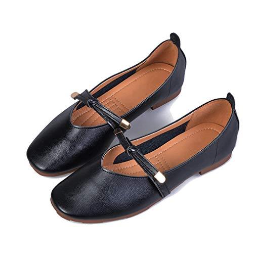 Frauen Wohnungen Schuhe Mode Einfarbig Runde Spitze Komfort Casual Wohnungen Schuhe
