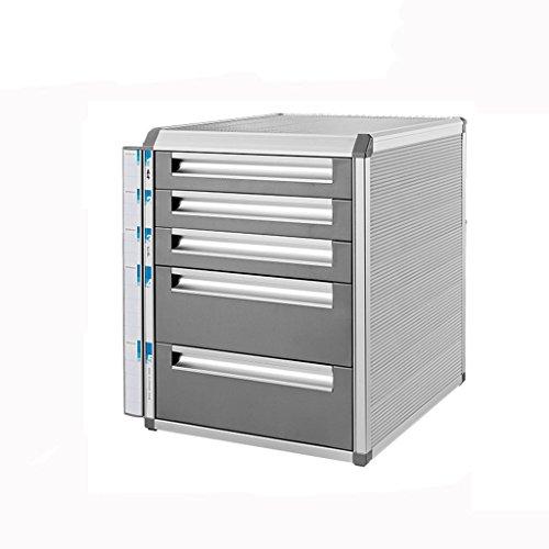 CHENGYI Schreibtisch-Aktenschrank-Aluminiumlegierungs-verschließbare Daten-Büro-Speicher-Fach-Aktenschrank-Vertraulichkeits-Kasten (Design : 5 layers-Large) Fach-speicher-kasten