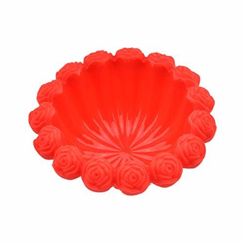LONGLISHENG Blume Form Silikon Kuchen Brot Pie Flan Tart Formen DIY Backen Cupcake Form Rot Flan Mold Pan