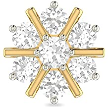 PC Jeweller The Mahina 18KT Yellow Gold and Diamond Nose Pin for Women