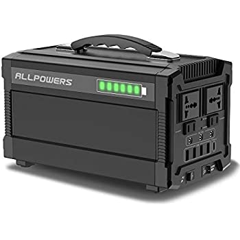 ALLPOWERS 288Wh/78000mAh Portable Solar Generator Power Inverter Power Station Camping Emergency Power Supply with DC/AC Inverter, Charged by Solar ...