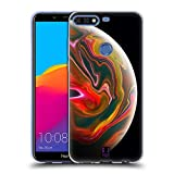 Head Case Designs Sonnen Lichter Acryl Giessende Planeten Soft Gel Hülle für Huawei Honor 7C / Enjoy 8