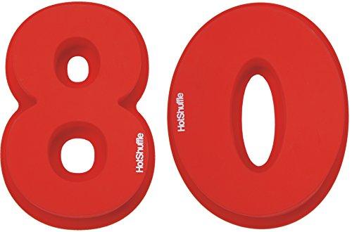 Große Silikon Anzahl 80 Kuchenform Backen Geburtstag Jubiläum Geburtstagstorte (Kuchenform Anzahl 100)