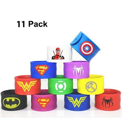 Forwin 11 Super-héros Sacs de fête pour Les garçons Anniversaire Enfants Super-héros Party Pro Bracelet Enfant Toy