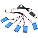 Rishil World H107C-004 5x3.7V 380mAh Battery 2 To 5 Cable USB Charging Cable