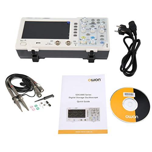 OWON SDS1102 2 Canales LCD Tipo de Ahorro económico Osciloscopio Digital Blanco