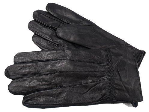 The Leather Emporium - Herren Neu Schwarze Weiche Leder Fahrerhandschuhe - Schwarz, L