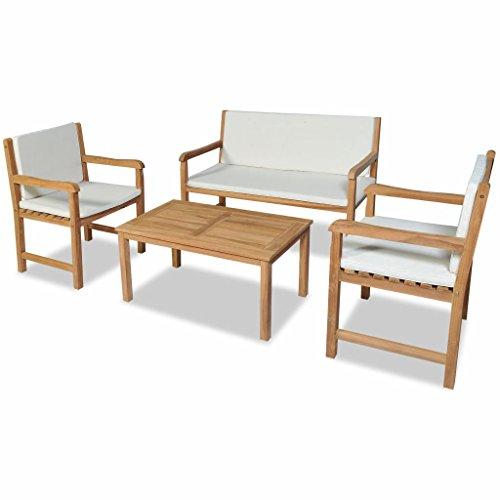 FZYHFA Gartenmöbel-Set aus Teak-Holz, einfaches und praktisches Design, stabil und langlebig, für...