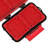 World of Needs Waterproof Memory Card Case Storage Box 4 CF/8 SD/12 TF Black
