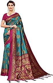 Winza Designer Women's Banarasi Art Silk Saree With Bl