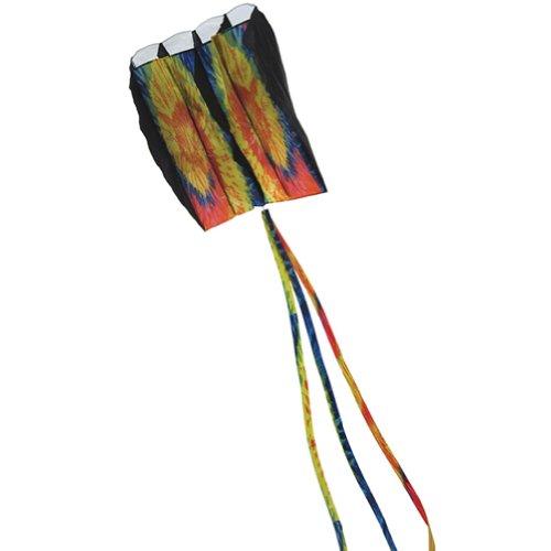 Tie Dye negro Aire Foil Kite 7,5m